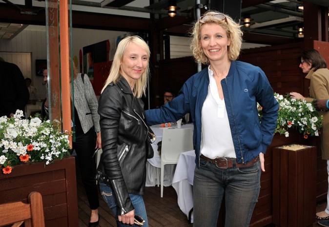 Audrey et Alexandra Lamy à Roland Garros, le 2 juin 2013