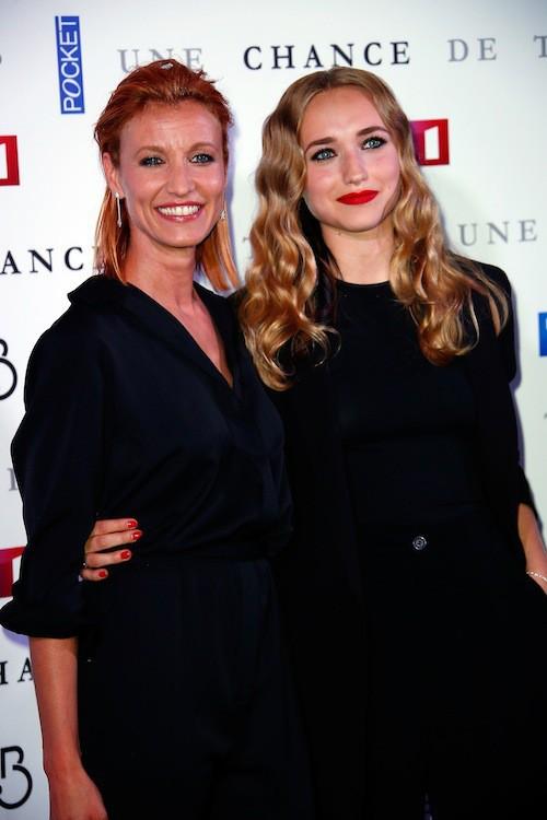 Alexandra Lamy et sa fille, Chloé, le 24 juin 2015 à l'avant-première d'Une chance de trop