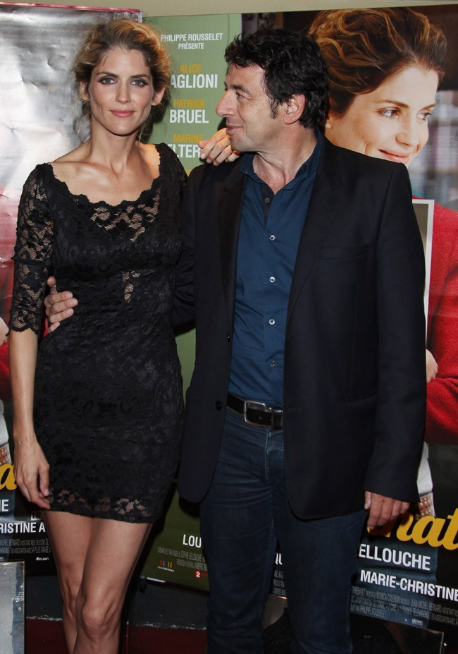Alice Taglioni et Patrick Bruel le 16 juillet 2012 à Paris
