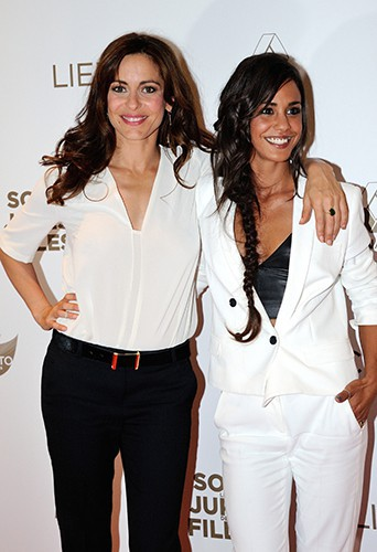 Audrey Dana et Alice Belaïdi à Paris le 2 juin 2014