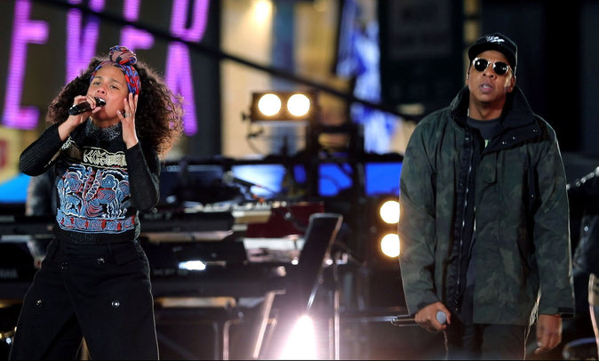 Alicia Keys et Jay-Z à New York le 9 octobre 2016
