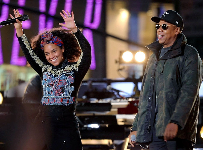 Alicia Keys : Sur sc�ne avec Jay-Z, elle r�pond � Donald Trump !