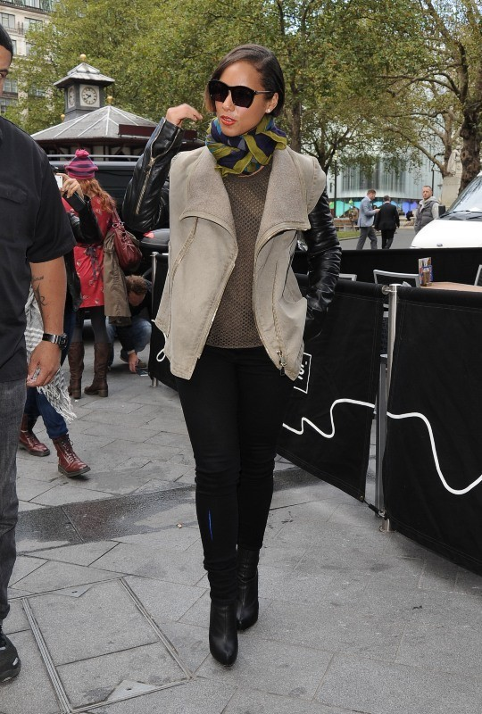 Alicia Keys en promo à Londres, le 27 septembre 2012.