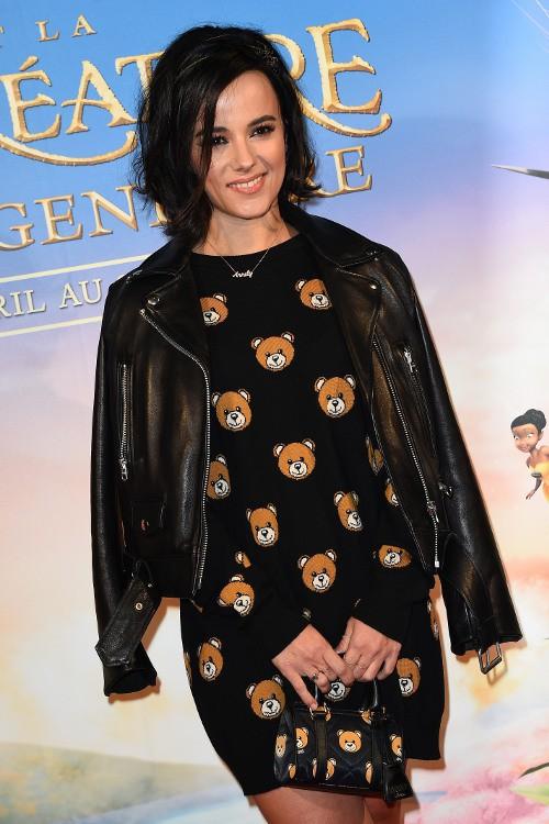 """Alizée à l'avant-première de """"Clochette et la créature légendaire"""" organisée à Paris le 20 mars 2015"""