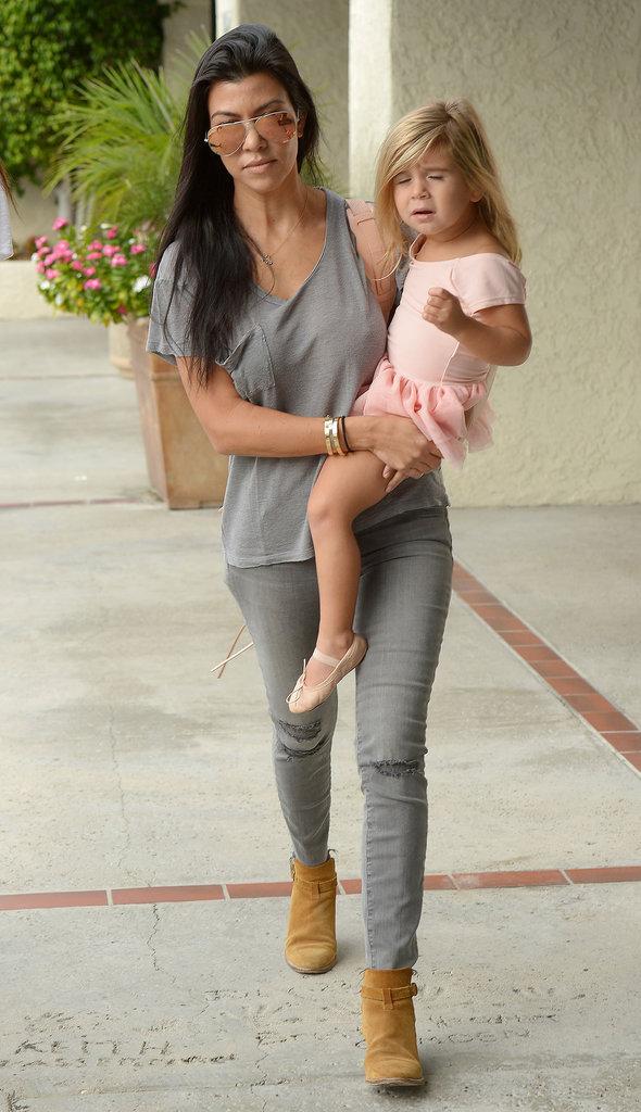 Kourtney Kardashian, North et Penelope le 14 octobre 2015