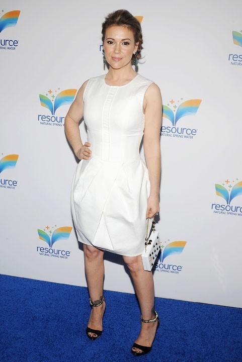 Alyssa Milano à la soirée de lancement de Natural Spring Water à New-York le 5 juin 2013