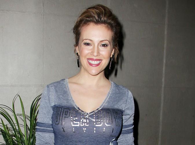 Alyssa Milano à New-York le 30 janvier 2014