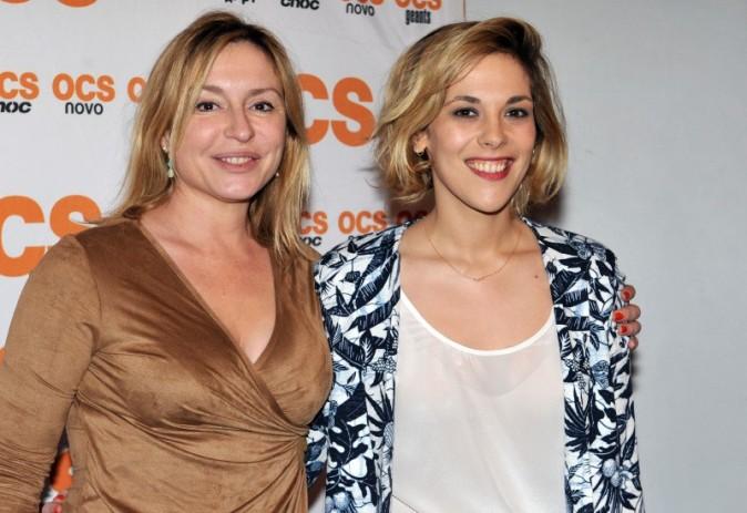 Alysson Paradis et Jeanne Savary au Forum des Images pour la présentation de la saison 2 de Q.I, le 4 avril 2013