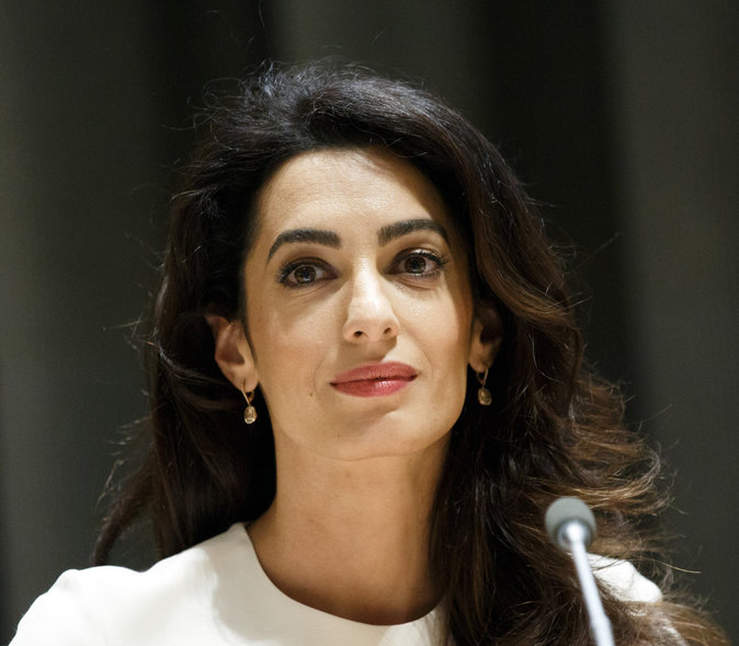 Amal Clooney à l'ONU, le 16 septembre 2016