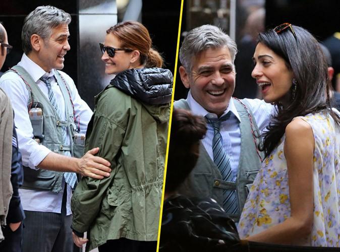 Amal et George Clooney amoureux et complices avec Julia Roberts !