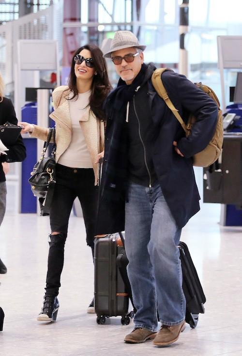 Amal Alamuddin et George Clooney partent fêter Thanksgiving en famille, en novembre 2014