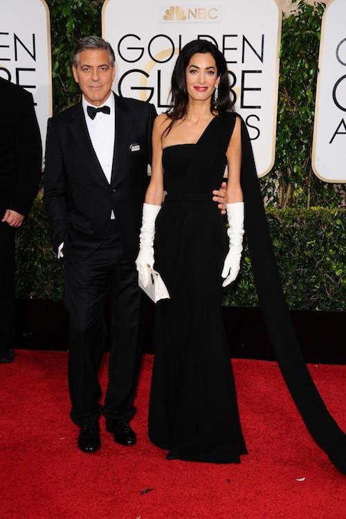 janvier 2015 : première apparition officielle pour les jeunes mariés aux Golden Globes