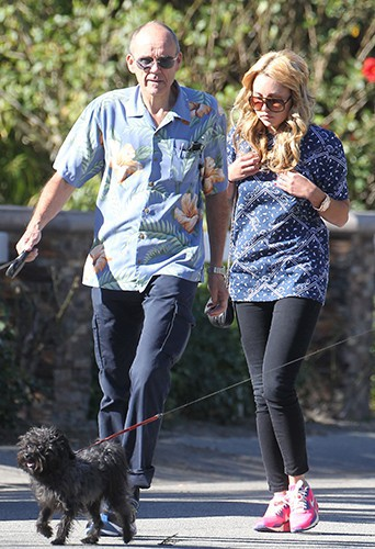 Amanda Bynes et ses parents à Los Angeles le 29 décembre 2013