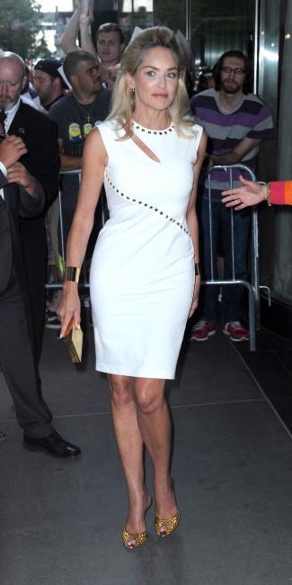 """Sharon Stone arrive à la première du film """"Lovelace"""" à New York, le 30 juillet 2013."""