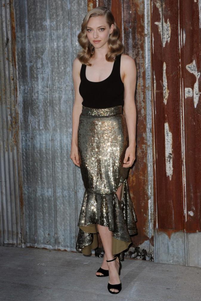 Amanda Seyfried au défilé Givenchy le 11 septembre 2015