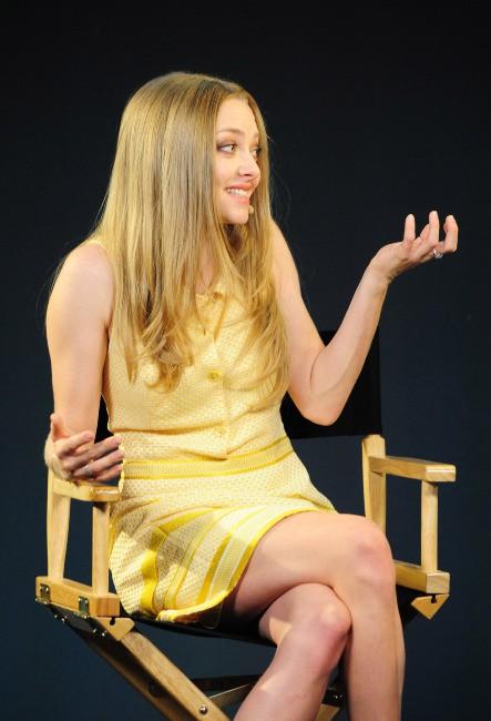 Amanda Seyfried en promo à Londres, le 13 août 2013.
