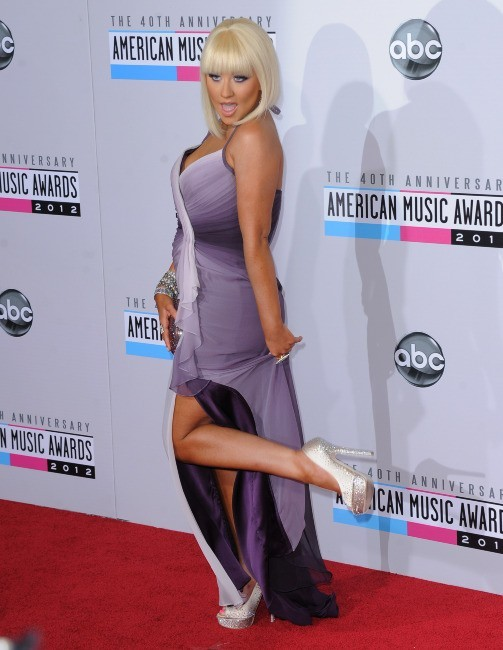 Christina Aguilera lors des American Music Awards 2012 à Los Angeles, le 18 novembre 2012.