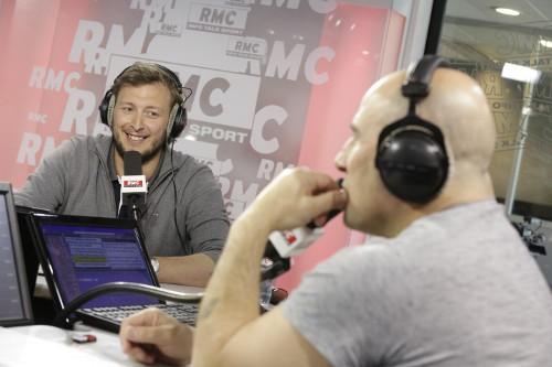 Amaury Leveaux dans les studios de RMC le 21 avril 2015