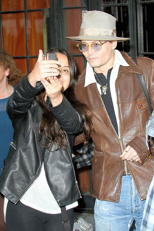 Amber Heard et Johnny Depp à New-York le 22 avril 2014