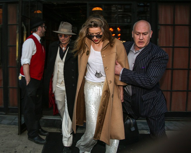 Amber Heard et Johnny Depp à New-York le 24 avril 2014