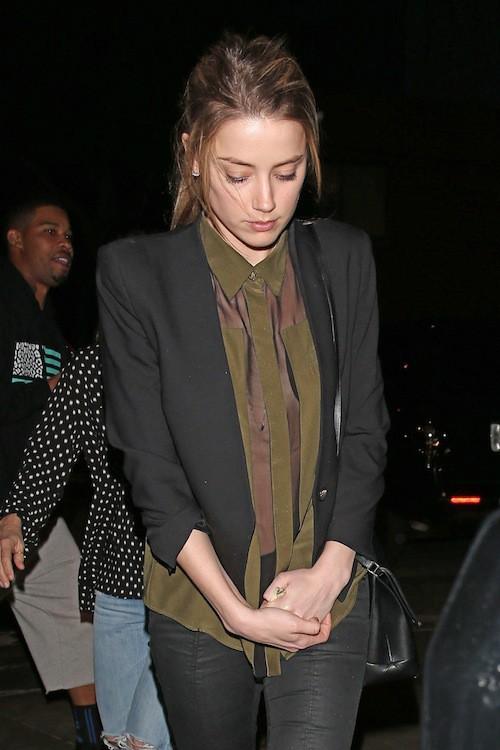 Photos : Amber Heard : triste mine au lendemain de son apparition éblouissante aux Golden Globes !
