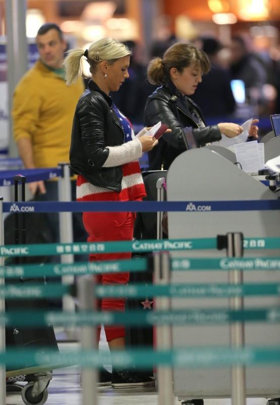 Amélie, Aéroport Roissy Charles de Gaulle, 13 janvier 2013.
