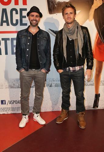 Julien Arruti et Philippe Lacheau à Paris le 26 mai 2014