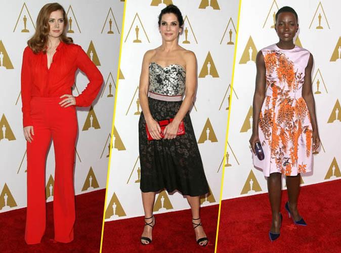Amy Adams, Sandra Bullock et Lupita Nyong'o lors du déjeuner des nommés aux Oscars, le 10 février 2014.