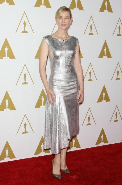 Cate Blanchett lors du déjeuner des nommés aux Oscars, le 10 février 2014.
