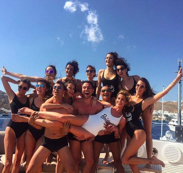 Ana Beatriz Barros et ses amis