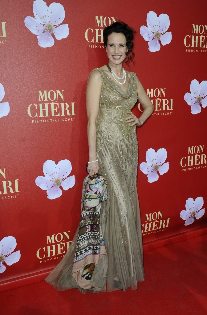 Andie MacDowell lors d'un gala de charité à Munich, le 3 décembre 2011.