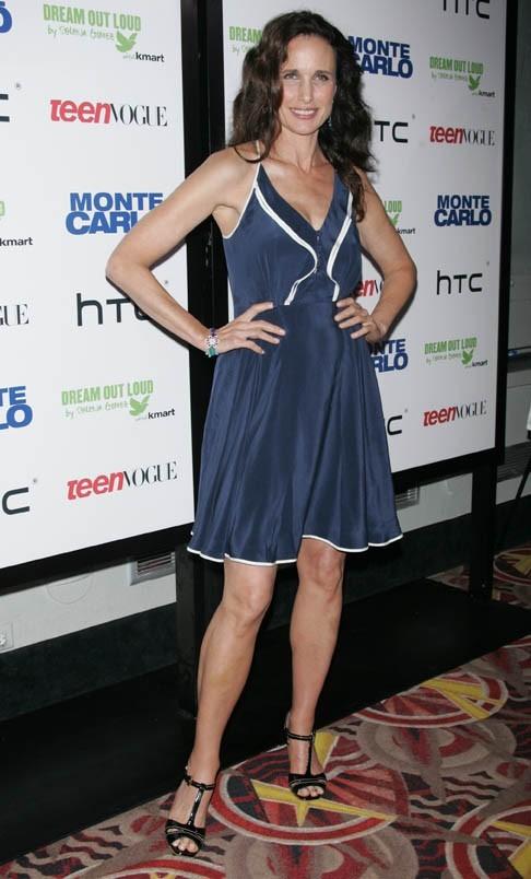 Andie MacDowell lors de la première du film Monte Carlo à New York, le 23 juin 2011.