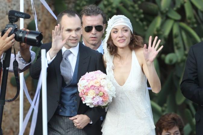 Andrés Iniesta et Anna Ortiz lors de leur mariage à Tarragone, le 8 juillet 2012.