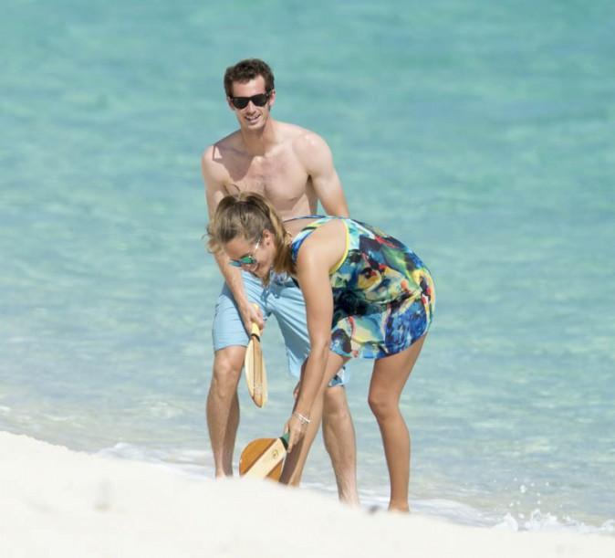 Andy Murray en vacances aux Bahamas avec sa girlfriend Kim Sears le 15 juillet 2013