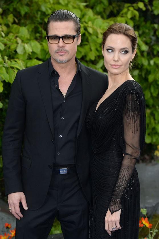 Angelina Jolie et Brad Pitt à Londres le 8 mai 2014