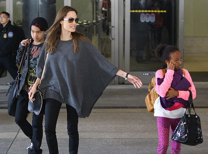 Angelina Jolie et ses enfants à Los Angeles le 29 mars 2014