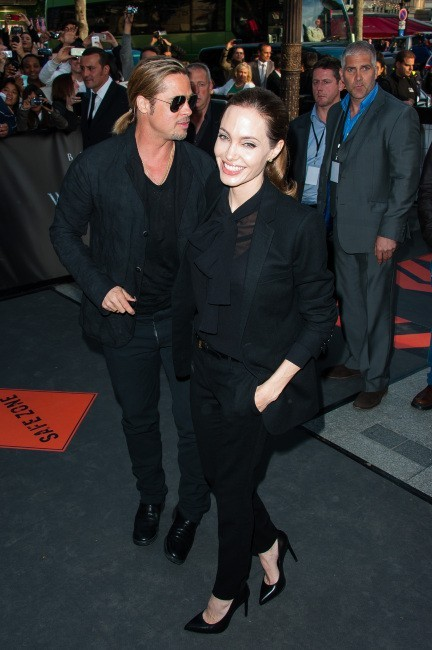 Angelina Jolie et Brad Pitt le 3 juin 2013 à Paris