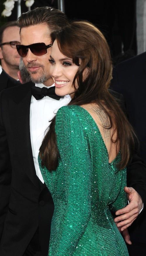 Brad Pitt et Angelina Jolie an novembre 2007