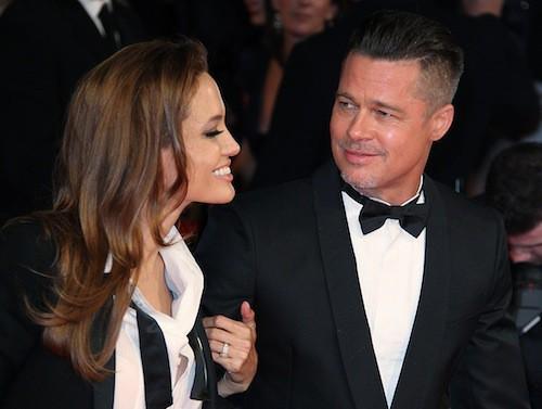 Brad Pitt et Angelina Jolie assortis pour les Bafta à Londres en février 2014