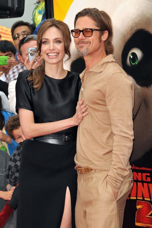 Brad Pitt et Angelina Jolie en mai 2011 pour la première de Kung Fu Panda 2