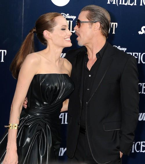 Brad Pitt et Angelina Jolie en octobre 2009 à la première de Inglorious Basterds à Los Angeles