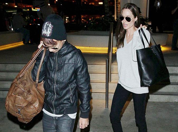 Maddox Jolie-Pitt et Angelina Jolie à Los Angeles le 14 février 2014
