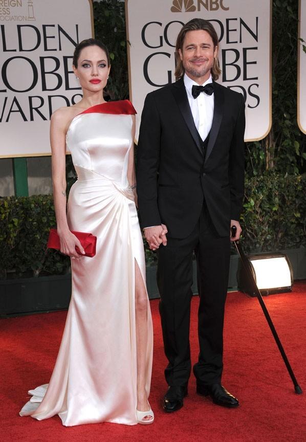 Angelina Jolie et Brad Pitt sur le tapis rouge des Golden Globes 2012 !