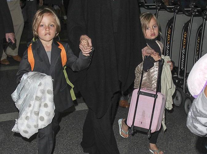 Angelina Jolie et ses enfants à l'aéroport de Los Angeles le 4 septembre 2013