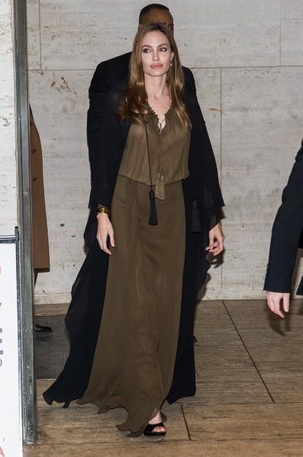 """Angelina Jolie lors de son arrivée à la soirée """"Women in the World Gala"""" à New York, le 4 avril 2013."""