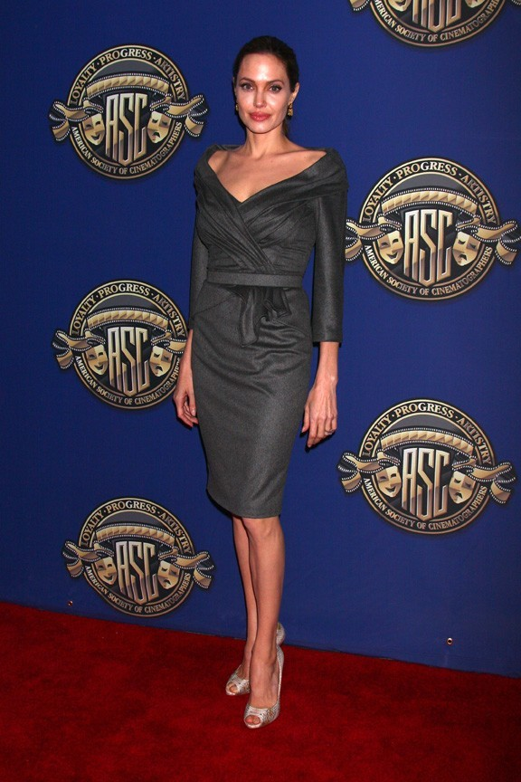 Angelina Jolie sur le tapis rouge des American Society of Cinematographers Outstanding Achievement Awards le 10 février 2013