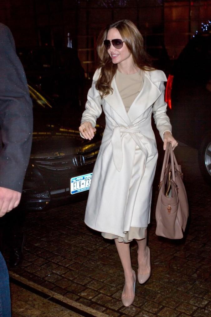 Angelina Jolie à New York, le 6 décembre 2011.