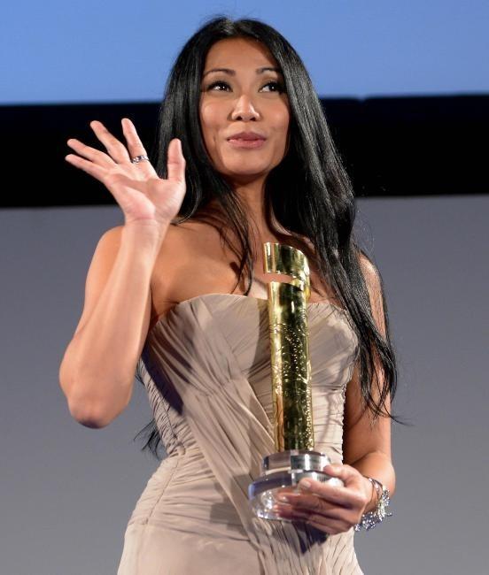 Anggun lors du Taormina Film Festival en Italie, le 18 juin 2013.