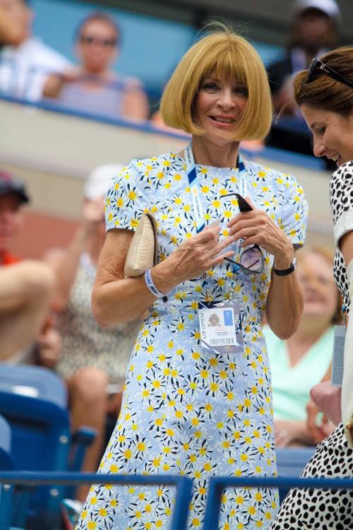 Anna Wintour à l'US Open, à New-York...
