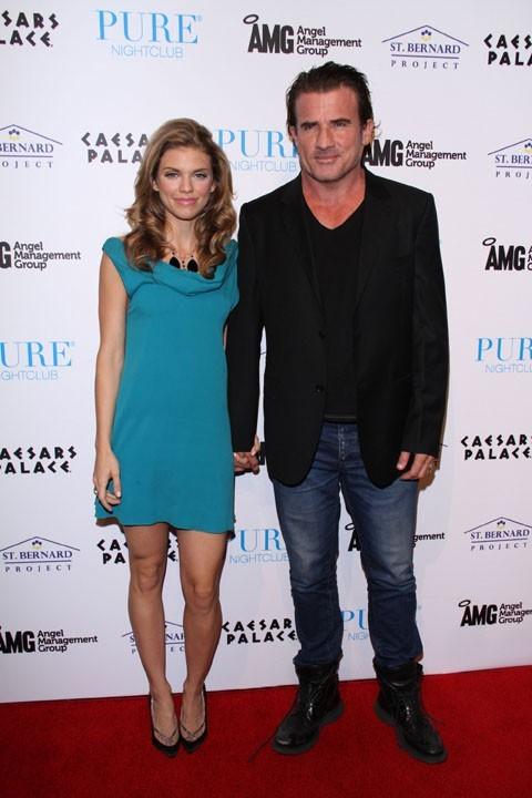 AnnaLynne McCord et Dominic Purcell samedi soir à Las Vegas